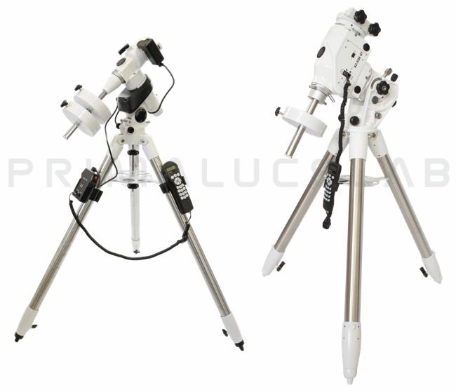 Montatura per telescopi: quale scegliere: a sinistra la compatta montatura SkyWatcher EQ5, a destra la più grande SkyWatcher AZ-EQ6