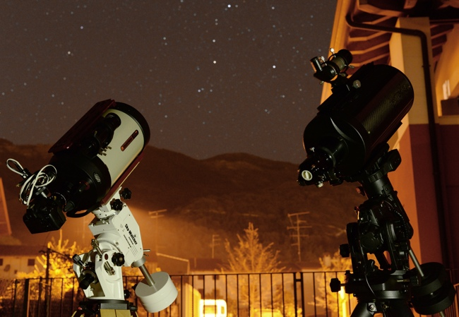 Celestron EdgeHD: EdgeHD 800 and GSO RC 8 during the test