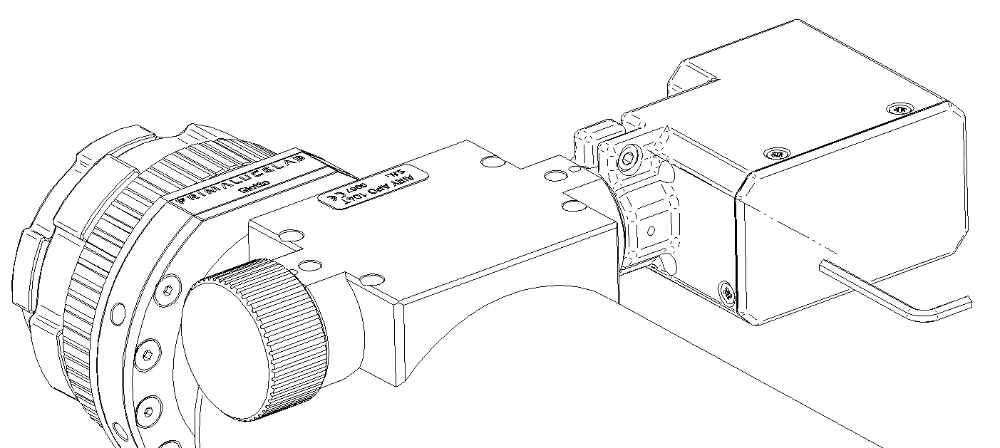 Installing SESTO SENSO on your focuser: fix the large screw that fix the outer ring of SESTO SENSO to your focuser.