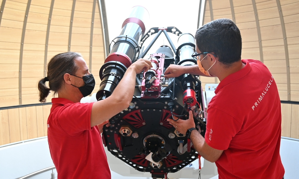 Remote observatory control with EAGLE: installing the EAGLE on the telescope
