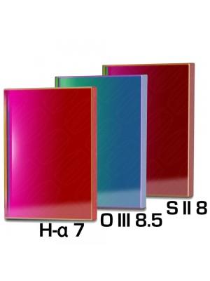 Baader Narrowband filterset 50x50mm H-alpha 7nm, O III 8.5nm and S II 8nm