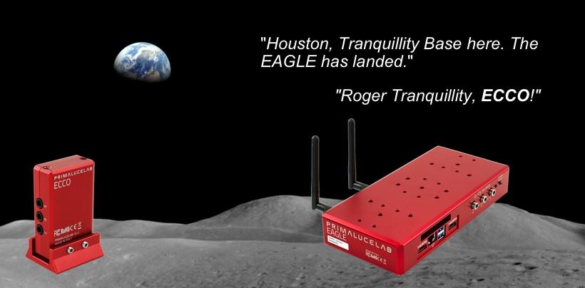 Astronomia - banner EAGLE ECCO Apollo 11
