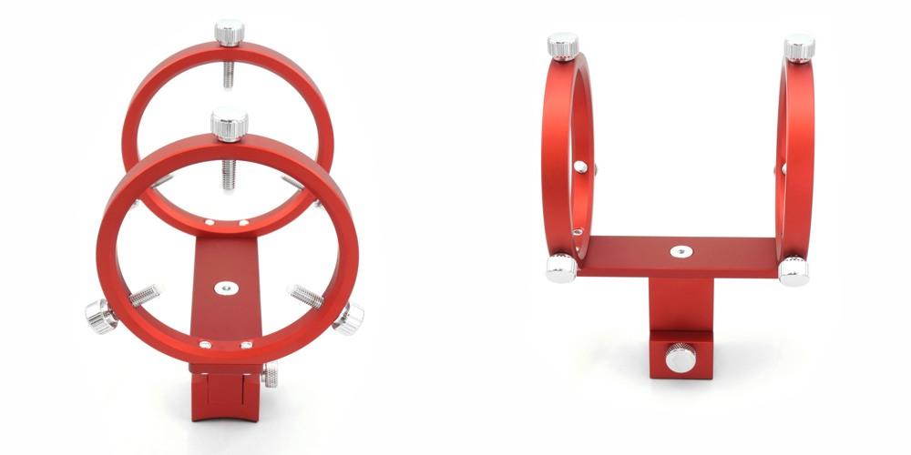 Supporto cercatore DX per rifrattori AIRY con doppio anello di supporto e viti a 120° con basetta stretta