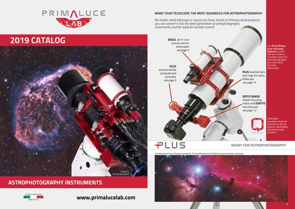 PrimaLuceLab catalog