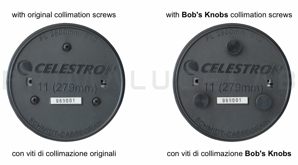 Bob Knobs collimation screws for C11 metric