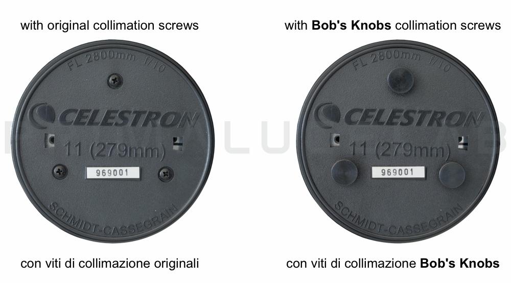 Bob's Knobs viti di collimazione per C11 metrico
