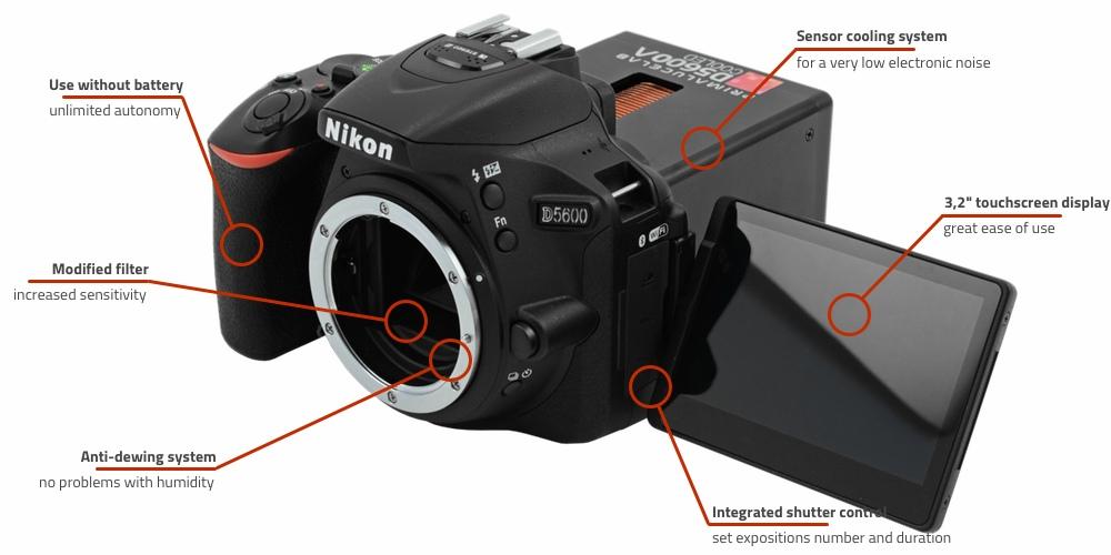 Nikon D5600a Cooled camera: Buy online | Primalucelab.com