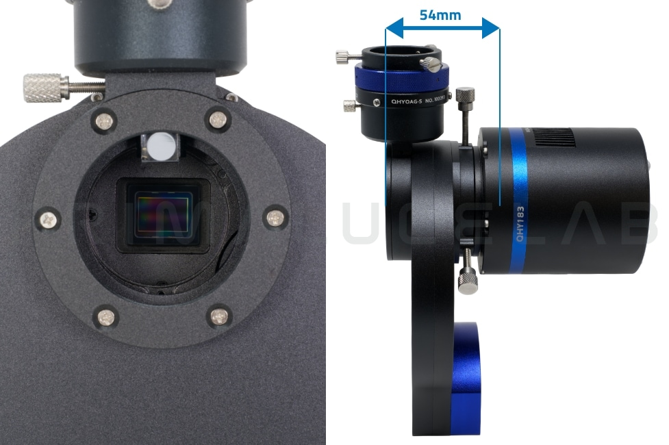 QHYCCD QHY183M mono camera with CFW3S 7x31,8mm and OAG-S