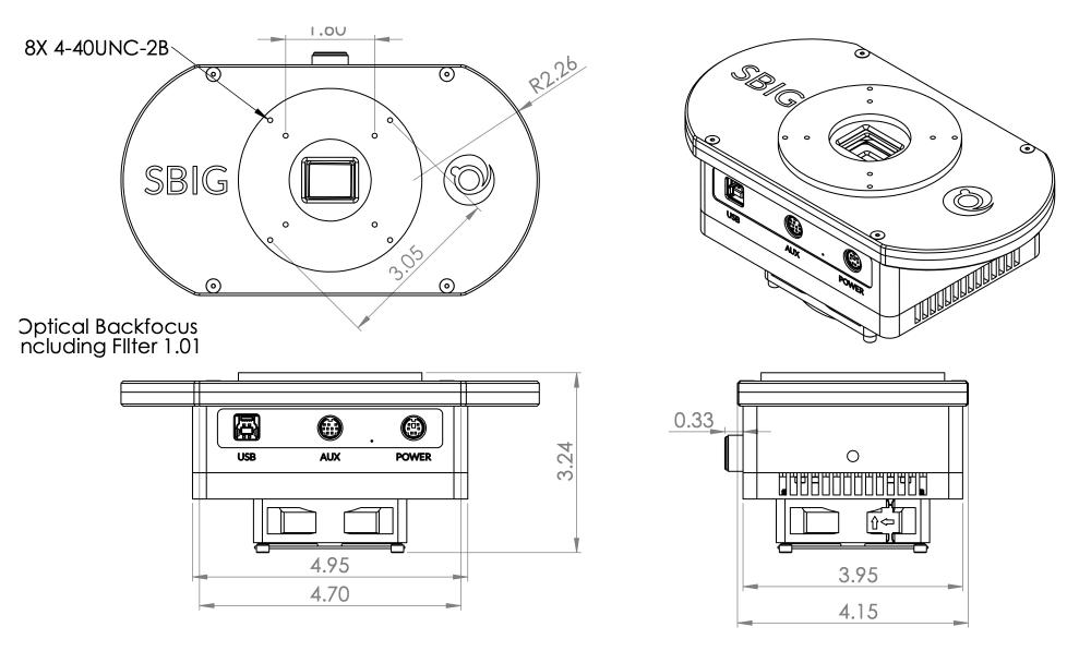 SBIG STC-7 con ruota portafiltri integrata