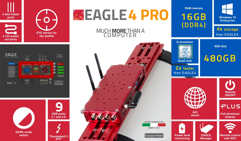 EAGLE4 PRO, advanced control unit for telescopes and astrophotography
