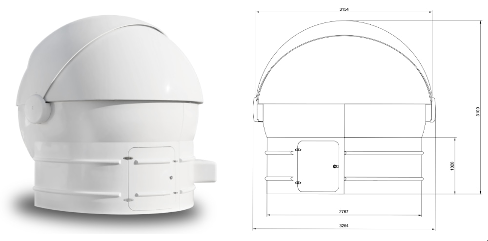 ScopeDome Clamshell 3M observatory