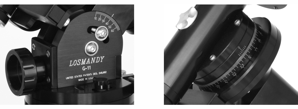 Losmandy G11 mount with Gemini 2 and HD tripod