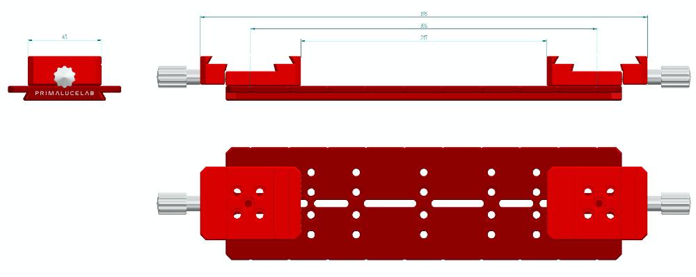 Piastra doppia Losmandy 350mm PLUS