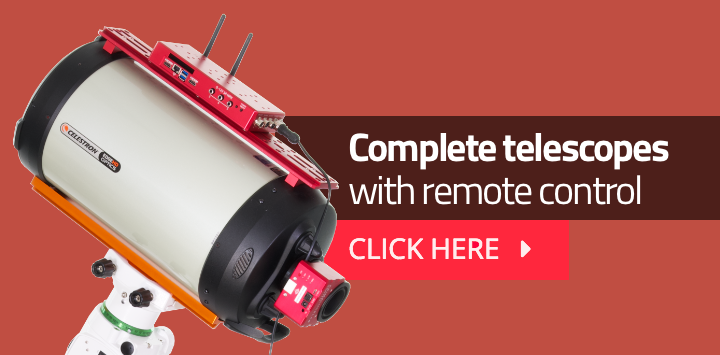 Complete telescopes with remote control