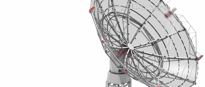 SPIDER 500A radio telescope antenna