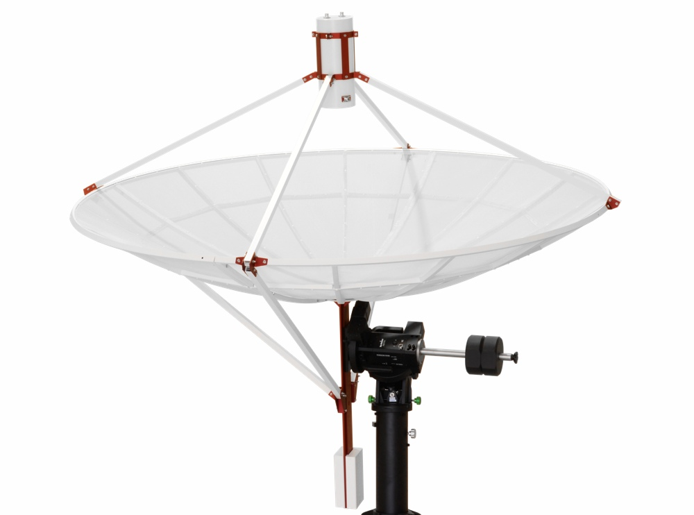 WEB230-5 2.3 meter prime focus parabolic antenna with supports