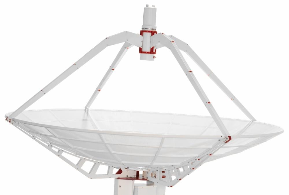 SPIDER 300A professional compact radio telescope: 3 meter prime focus parabolic antenna
