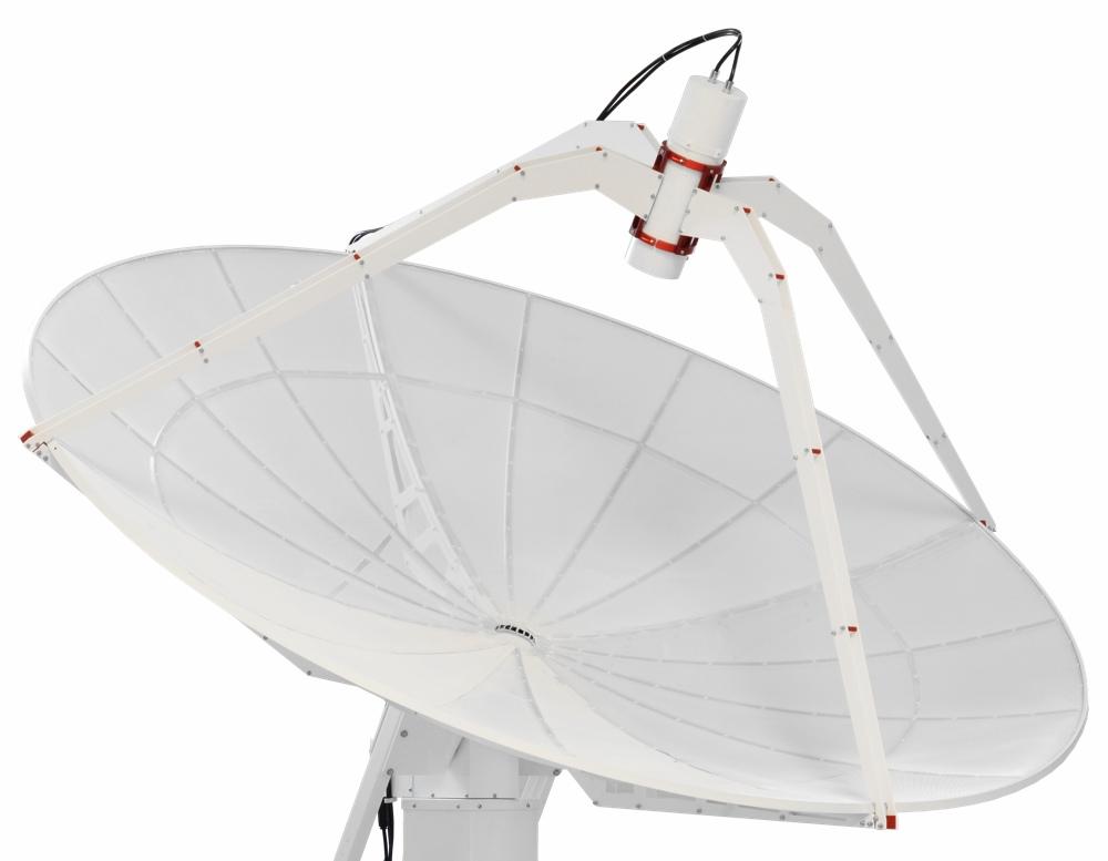 Radiotelescopio avanzato SPIDER 300A: antenna parabolica a primo fuoco da 3 metri di diametro
