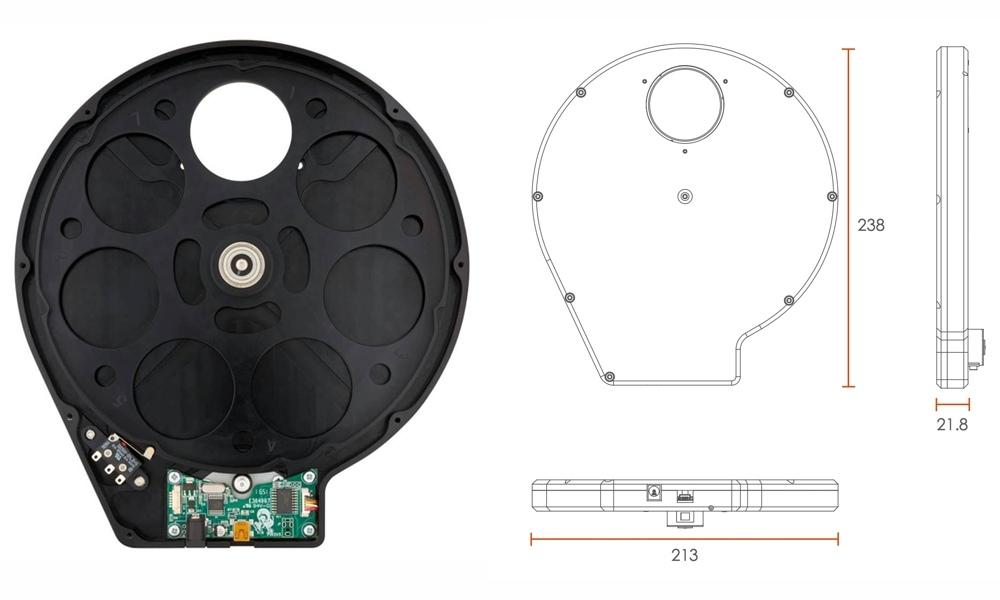 ATIK ruota portafiltri motorizzata EFW3 7x50.8m