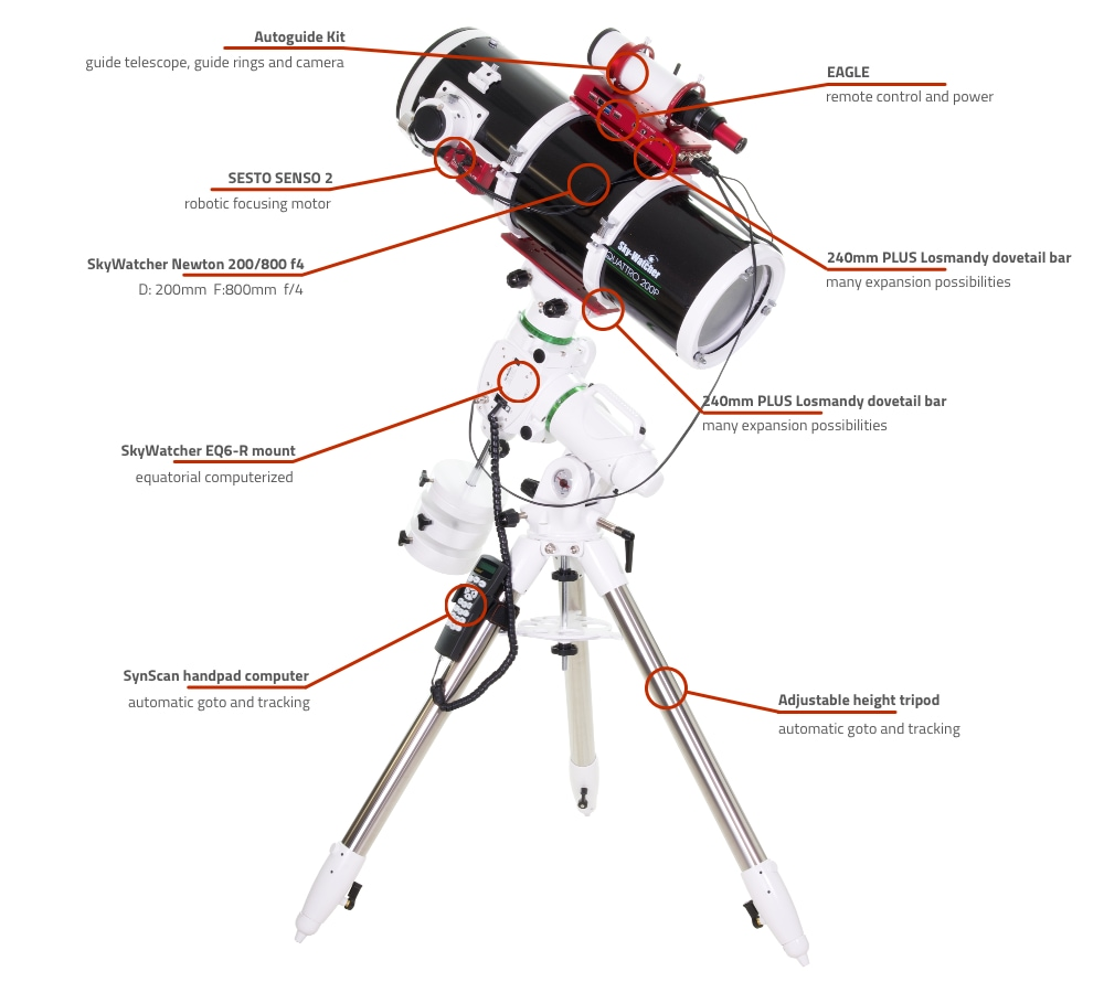 SkyWatcher Newton 200-800 computerized telescope with EQ6-R and EAGLE