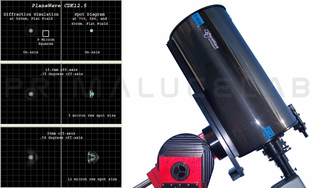 PlaneWave CDK12.5 astrograph f/8 with fused silica optics