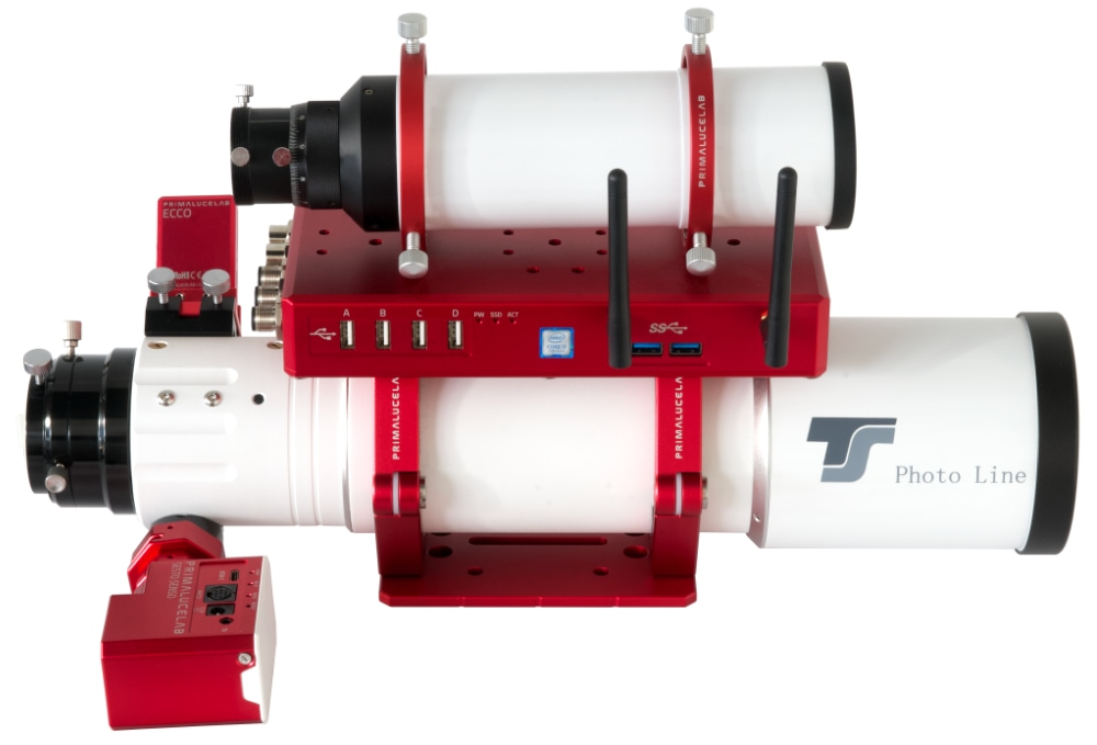 TS-Optics Photoline FPL-53 80mm f/7 doublet apochromatic refractor with SESTO SENSO